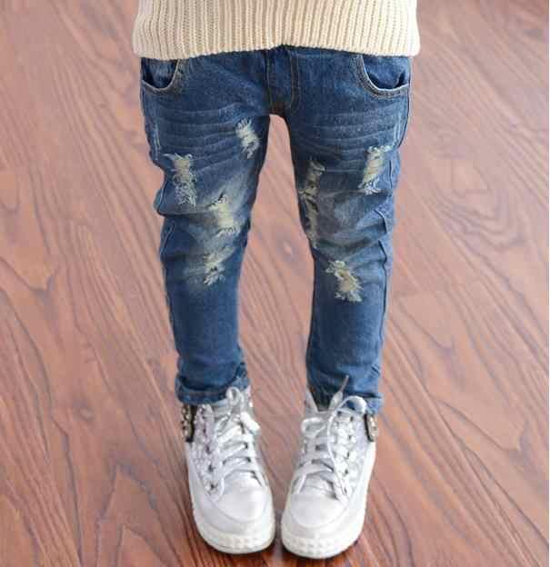 2018 Primavera Otono Bebe Ninos Ninas Jeans Ninos Roto Genial Pantalones De Mezclilla Lavados Nino Chicas Encuentro Pantalones Ninos Ropa Pants Toddler Pants Childrenchildren Pants Aliexpress