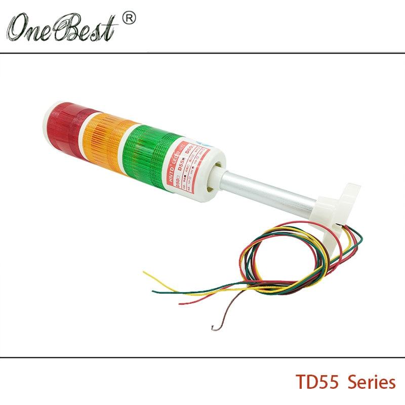 HNTD 24V LED indikator signal Upozorenje Svjetlo TD55 Semafori vrsta - Industrijska računala i pribor - Foto 4