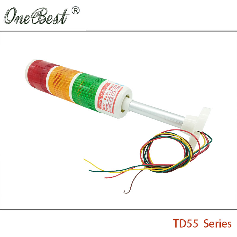 HNTD 24 V LED Indicator signaal Waarschuwingslampje TD55 Semafoor Rod - Industriële computers en accessoires - Foto 4