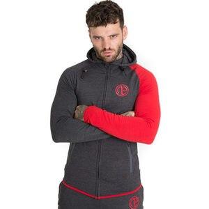 Image 3 - סתיו גברים סקיני נים חולצות זכר חדרי כושר כושר פיתוח גוף ספורט מזדמן אופנה כותנה רוכסן מעיל Jogger מעילים