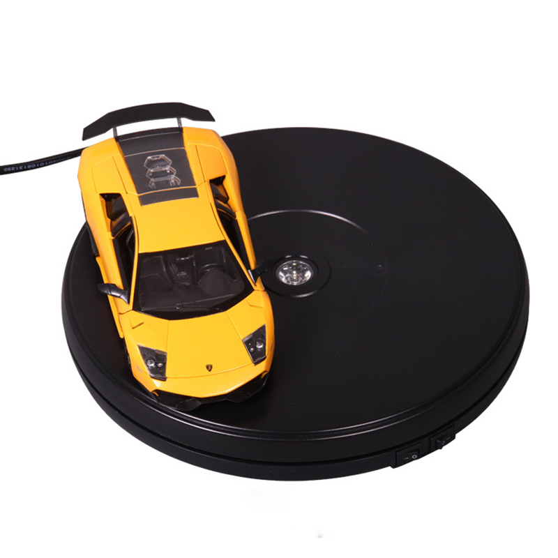 10in. Top Electric Motorized Rotating Display Turntable for Model Jewelry display stand or 4k Photograph Max Load 15kg stylish black velvet top electric motorized rotary rotating turntable for display or advertising stand 360 plastic battery