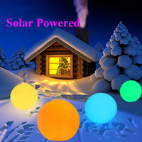 BEIAIDI 1PC Outdoor Solar Garden Glow Ball Light With Remote 7 Color Patio Lawn Landscape Lawn Light LED illuminated Bar Lamp