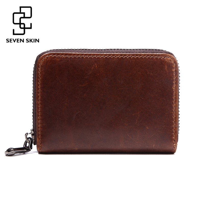 100% Genuine Leather Men Credit Card Holder Wallet Female High Quality Pillow Organizer Purse Small Mini Women Fashion ID Holder цена