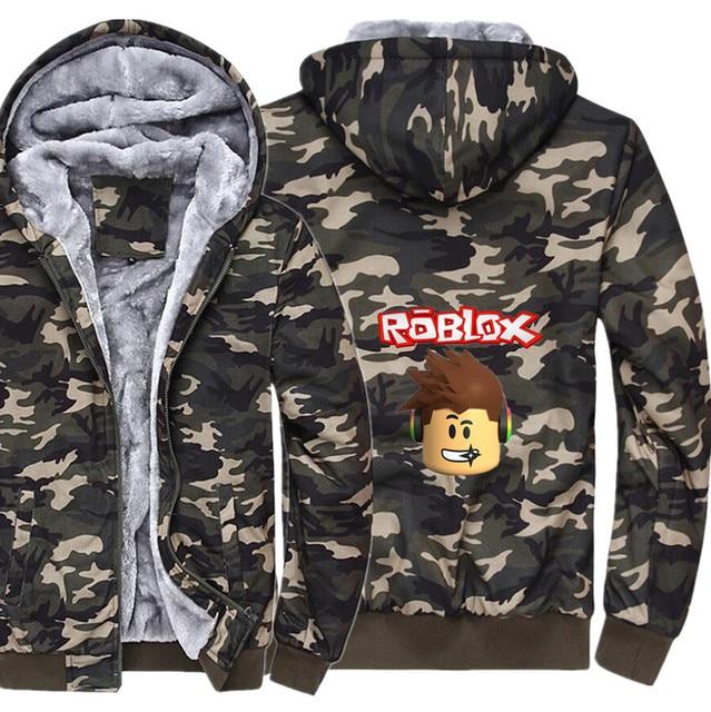 64b83140170 Men roblox noob winter camouflage hoodie casual super warm jacket coat  fashion fleece thicken zipper sweatshirts