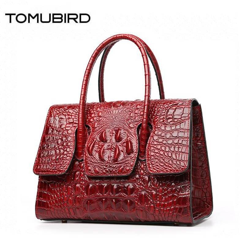 купить TOMUBIRD 2018 new top Cowhide women genuine leather bag designer Crocodile pattern handbags fashion luxury embossing leather bag по цене 9816.12 рублей
