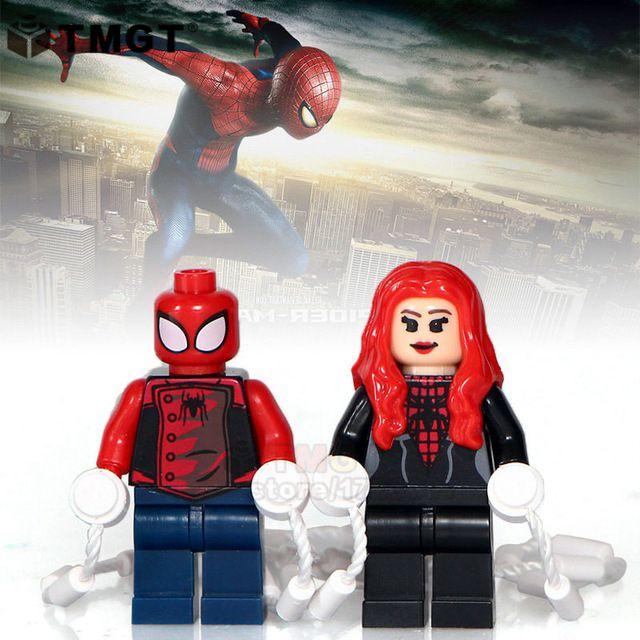 Toys & Hobbies Blocks 2 Pcs/lot Legoings Spiderman Thor Stitch Emmet Wyldstyle Creepy Doll Jack Skellington Building Blocks Toys Gifts For Children A Great Variety Of Models