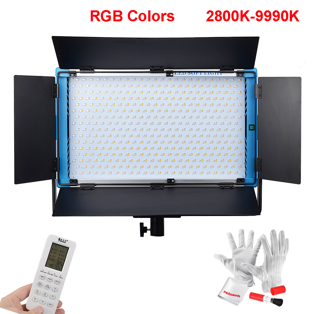 Yidoblo LED Studio Video Panel Light RGB 2800k-9990k Adjustable CRI 95+ 180W with LCD Sc ...