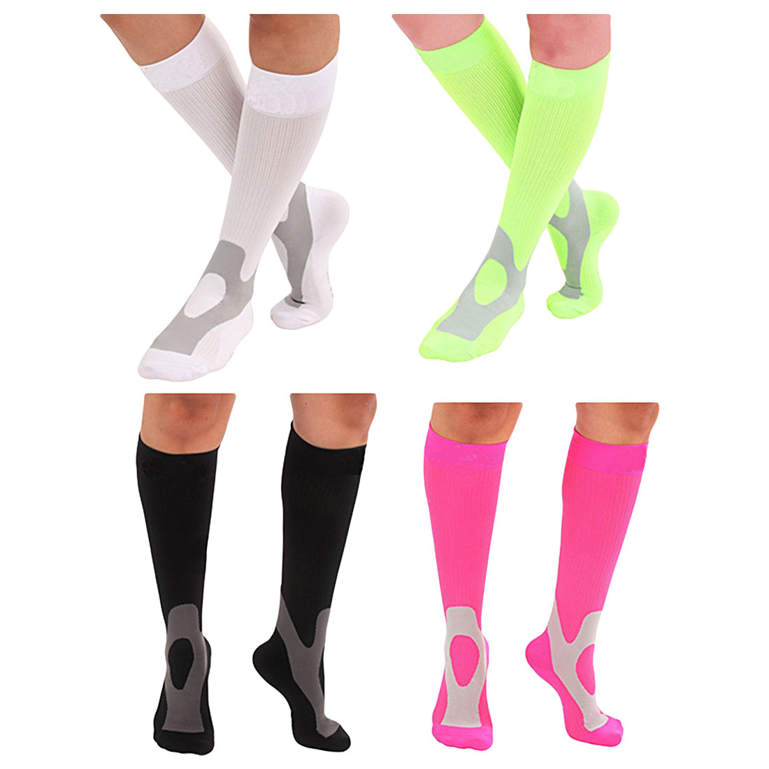 Men Women Breathable Compression Sport Socks Comfortable Relief Soft Leg Support Stretch Sock