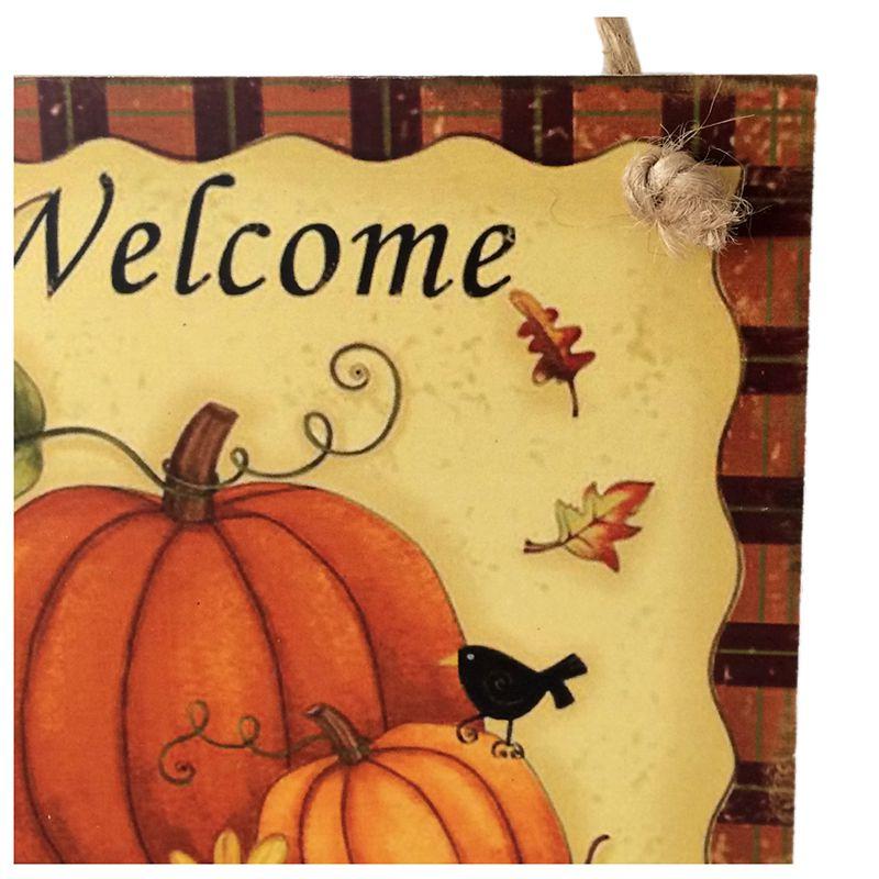 Wooden Hanging Plaque Sign Thanksgiving Door Hanger Wall Decorations ...