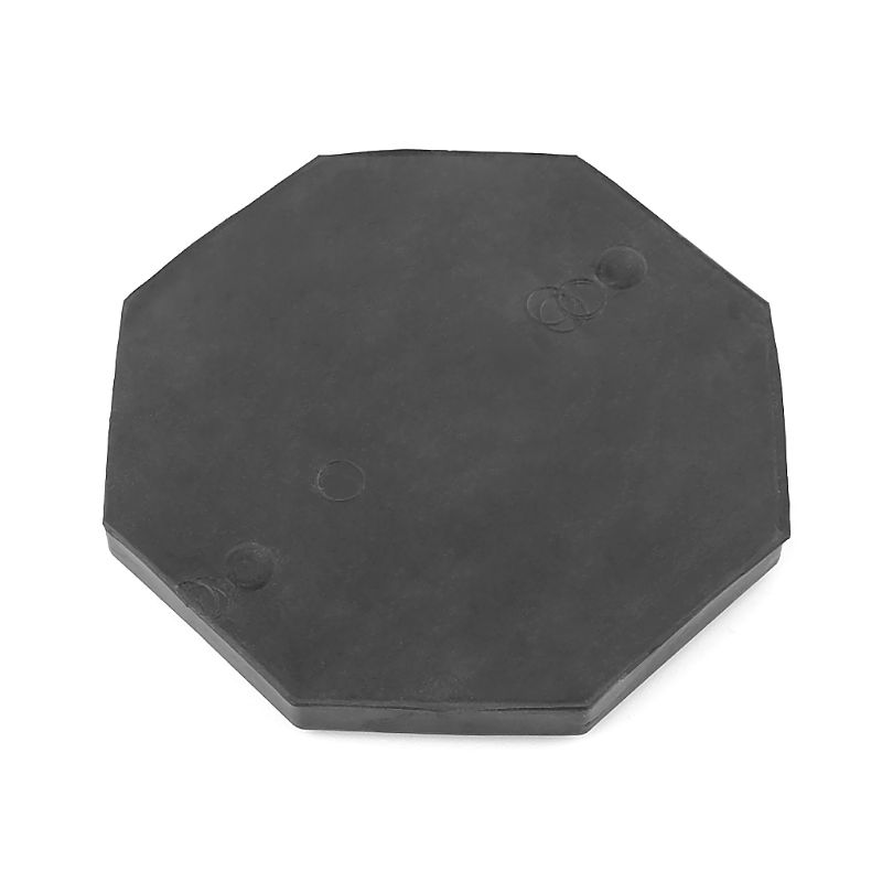Vehicle Octagon Floor Jack Disk Pad Adapter Rubber Blanket For Pinch Weld Side Rail Stand