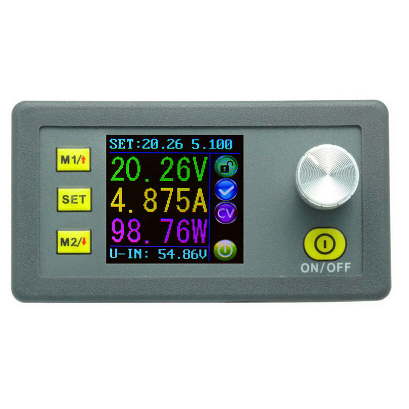 DP50V5A voltmeter color LCD Display Constant Voltage current Step-down Programmable DC Power module buck converter ammeter digital color lcd display dp50v5a power supply module buck constant voltage current step down programmable 20