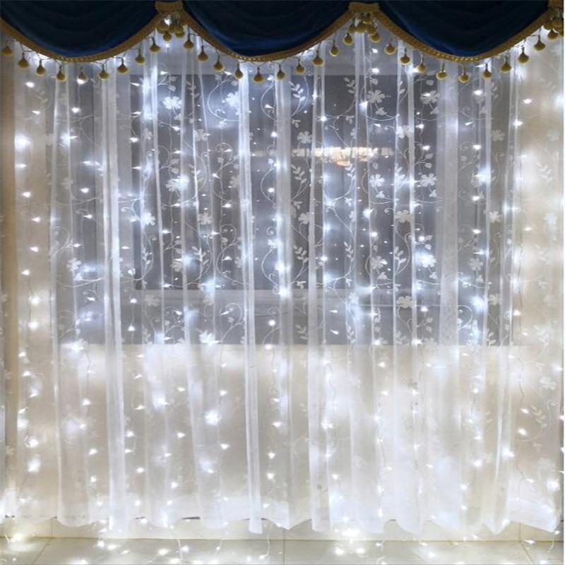 3M x 3M 300 LED al aire libre Inicio cálido blanco Navidad - Iluminación de vacaciones - foto 6