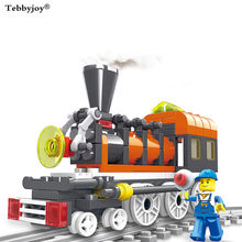 tebbyjoy Technic Factory Hobby Train Building Blocks for kids gift DIY Model Bricks Toys Gift Compatible With lepin(China)