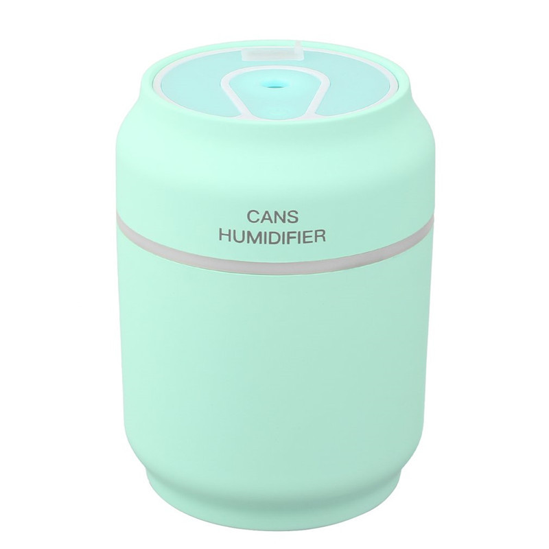 цена 3 in 1 Mini Cute USB Can Shape Humidifier & Fan & Night Light Diffuser Home Office Mist Maker Fogger for Household Office в интернет-магазинах