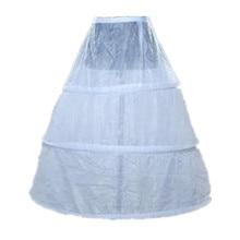 3 Hoop Ball Gown Full Crinoline Petticoat for Women Wedding (White)