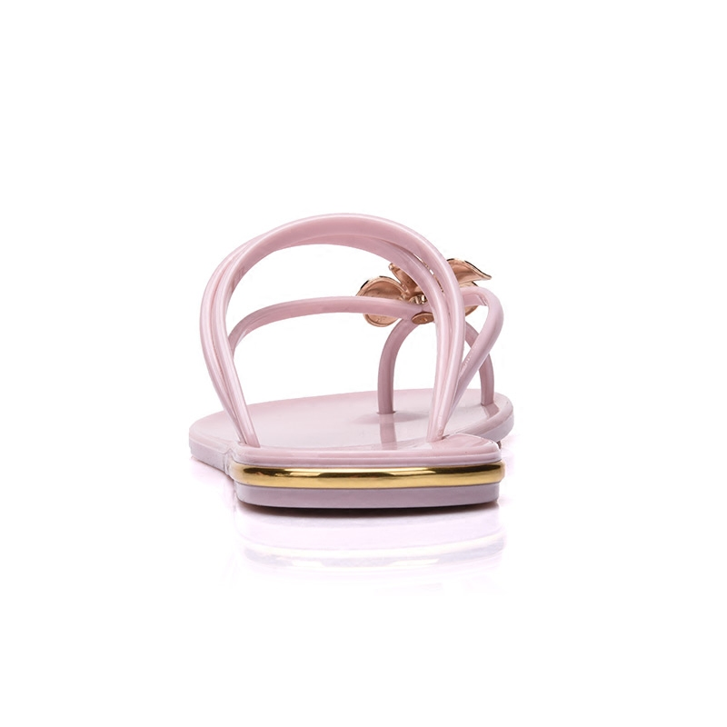 Summer flat with flip flops female slippers Flower crystal beach slippers sandals female Nude pink bathroom shoes, free shipping