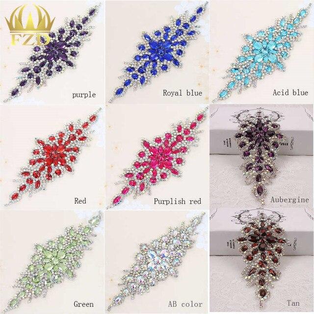 (30pieces) Wholesale Hotfix AB Crystals Rain Bow Color Rhinestone Sequin  Applique for Garment Dresses eae8c16c9622