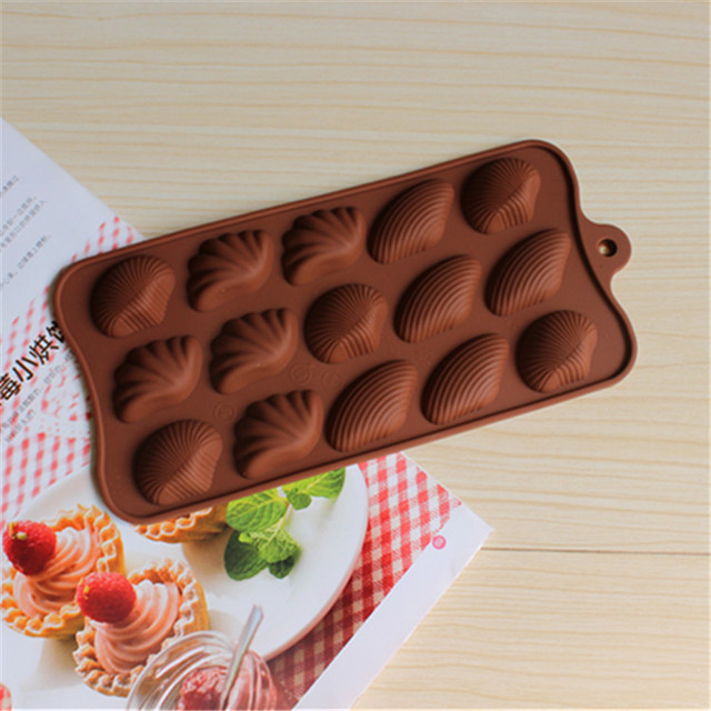 New Diy Shell Shaped Chocolate Mold Silicon Molds Cake Decorating Fondant Transfer Sheets Models