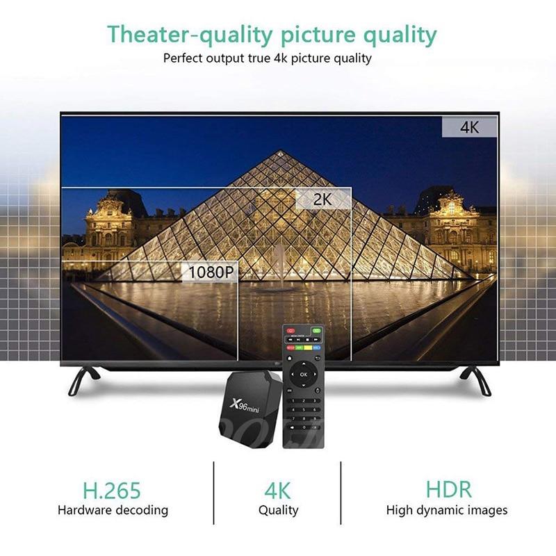 Image 3 - X96 mini TV BOX Android 7.1 OS WiFi Smart TV Box 2GB 16GB Amlogic S905W Quad Core Set top box 1GB 8GB X96mini Media Player-in Set-top Boxes from Consumer Electronics