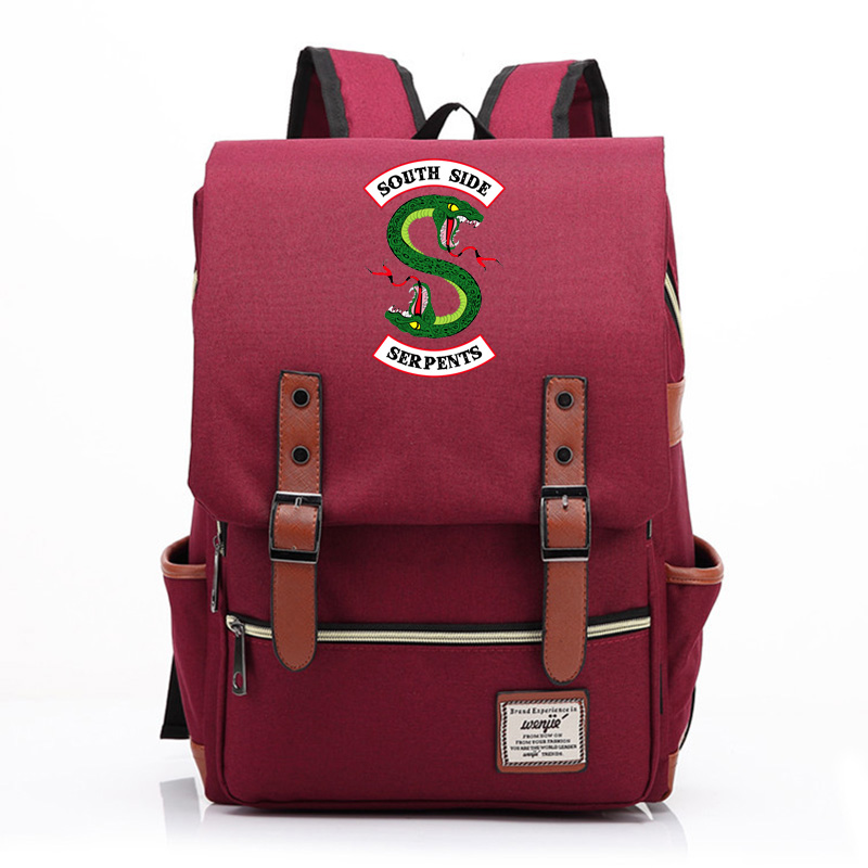 2019 Hot Riverdale Snake Cartoon hot Prints Boy Girl Student School bag Teenagers Schoolbags Canvas Women Bagpack Men Backpack 9 image