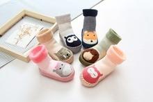 Meias Infant Bebe Boy Girl Baby Socks Newborn Cute Floor Boots Socks  Kids Winter Warm Rubber Sole Anti slip Inside Floor Socks