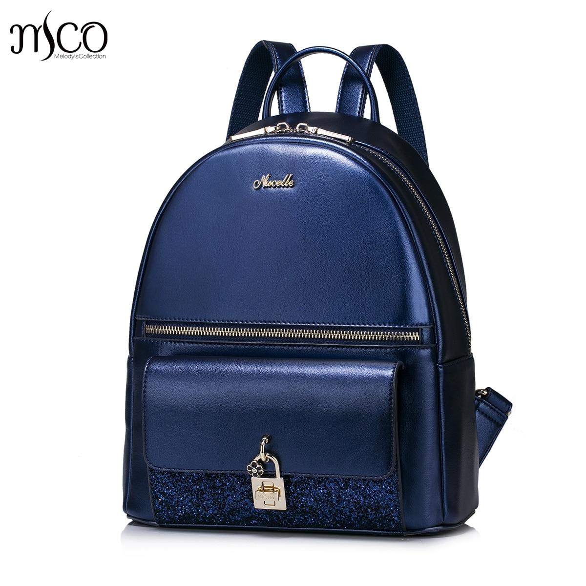 Women PU Leather Backpack Fashion Brief Female Elegant Daily Shoulder Bags Ladies Daypack Lock Vintage Travel Rucksack