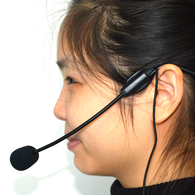 Ollivan Mini Microphone 3.5mm Wired Headworn Microfone For Voice Amplifier Speaker Head Mic Loundspeaker Lecture Teach Headset