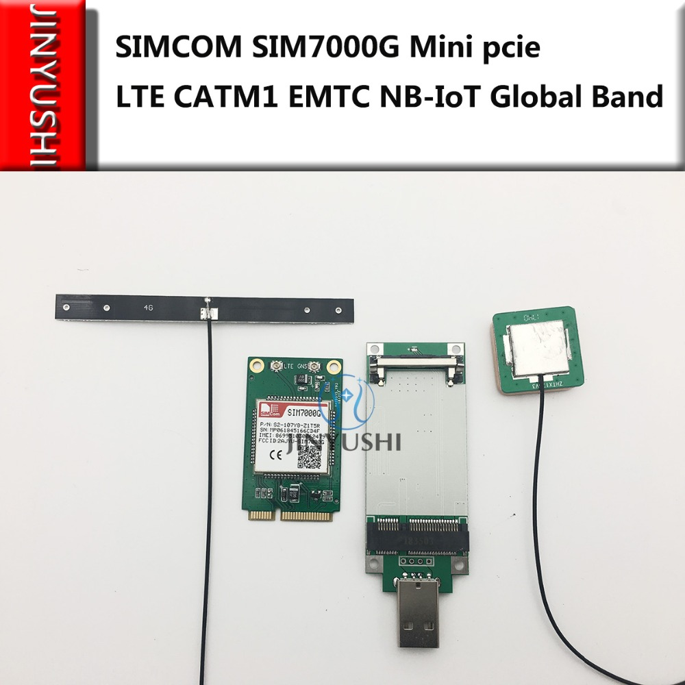 SIMCOM SIM7000G Mini Pcie+USB Adapter+4G Antenna+GPS Antenna LTE CATM1 EMTC NB-IoT Global Band For SIM7000A/ SIM7000E