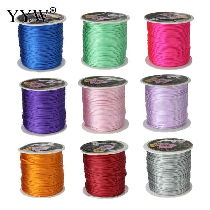 YYW Hot Sale Wholesale Designer Jewelry 70M/Spool 1MM Nylon Cord Chinese Knotting Silky Beading Braided String Thread DIY