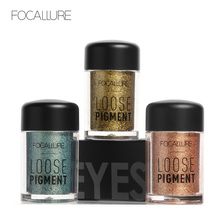 FOCALLURE 18 Colors Glitter Eye Shadow Cosmetic Makeup Diamond Lips Loose Makeup Eyes Pigment Powder