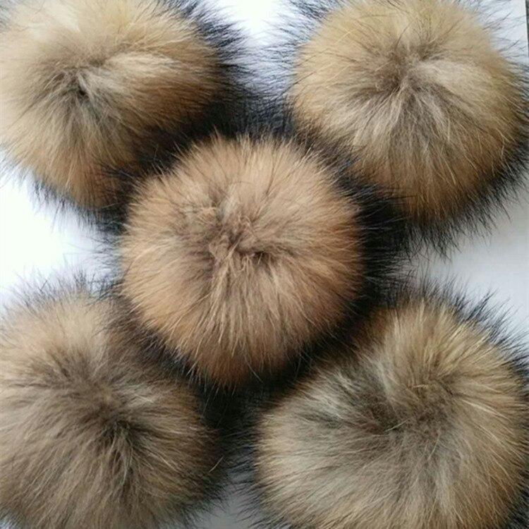 50 faux fur pompoms