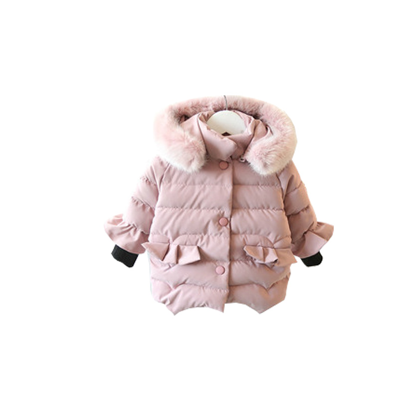 2017 New Girls coat winter jackets thickening Jacket down coat children Girl kids clothes coats korean 2-7 year fashion birthday girls down coats girl winter collar hooded outerwear coat children down jackets childrens thickening jacket cold winter 3 13y