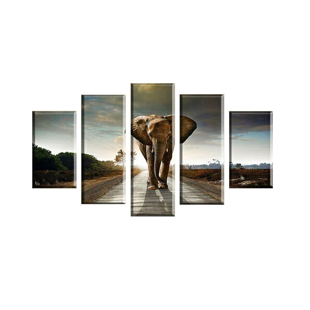 panel moderna grande impreso elefante pintura al leo imagen cuadros decoracion lienzo arte de la