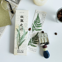 30pcs The blades of grass bookmarks for book mark Green Leaves memo greeting card gift Stationery Office School supplies A6301