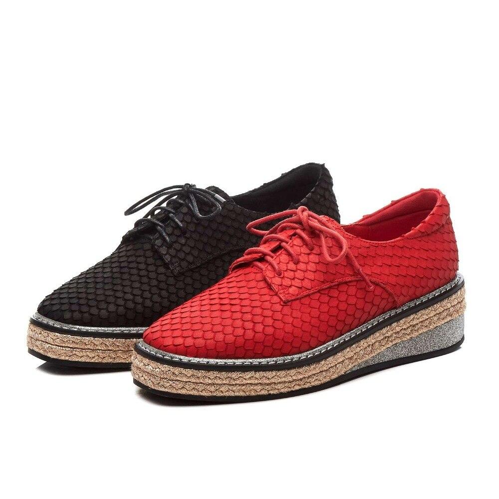 2019 femme concise pompes européen deisgner couleurs mélangées vintage denim patchwork bout carré à lacets rencontres punk chaussures décontractées L18 - 4
