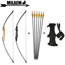 40lbs Archery Recurve Bow Set Straight Bow With Children Fiberglass Arrow Finger/ Arm Guard For Kids Gift Shooting Accessories все цены