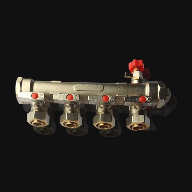 4 port ball valve  floor heating water segregator pert pipe brass manifold Water Distributor 1 2 built side inlet floating ball valve automatic water level control valve for water tank f water tank water tower