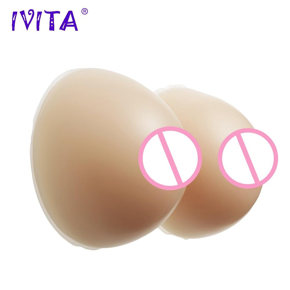 Buy IVITA 2400g Artificial Silicone Breast Form Realistic False Breast Fake Boobs Crossdresser Transgender Drag Queen Mastectomy