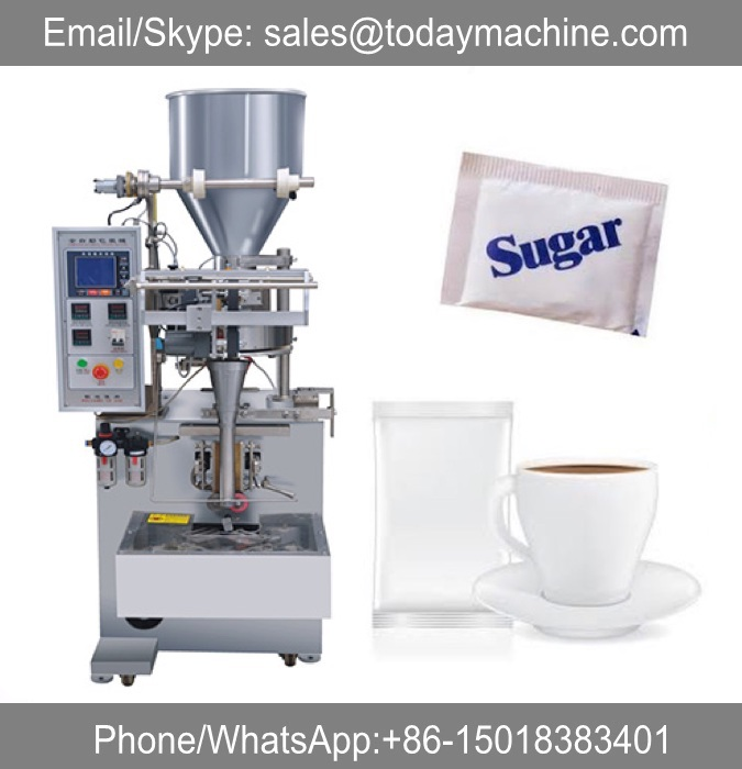 Small gram sugar/tea/coffee/salt sachet packing machine paper plastic packing material film roll