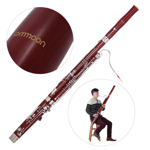 Image 5 - Ammoon C キーファゴットカエデ材ボディ白銅シルバーメッキキー木管楽器リード手袋キャリングケース