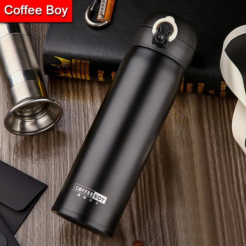 Boy café thermos botella para té 500 ml mujeres 304 de acero inoxidable frascos de vacío termo taza termos thermocup