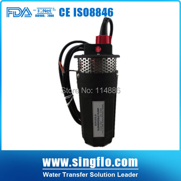 US $86 0 | submersible solar water pump for well SINGFLO 24v 6L/MIN 30  Meters Lift similar with shurflo 9300-in Pumps from Home Improvement on