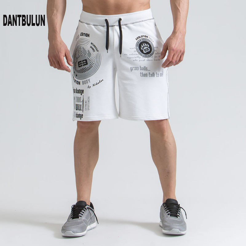 2018 NEW Mens cotton shorts Fitness Bodybuilding Casual Joggers workout Brand short Sweatpants Sportswear Gyms Men Shorts