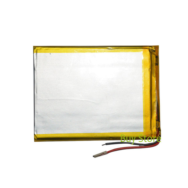 3500mAh 3.7V polymer lithium ion Battery 2 Wire Replacement Tablet Battery for Allwinner A13 7 inch Tablet