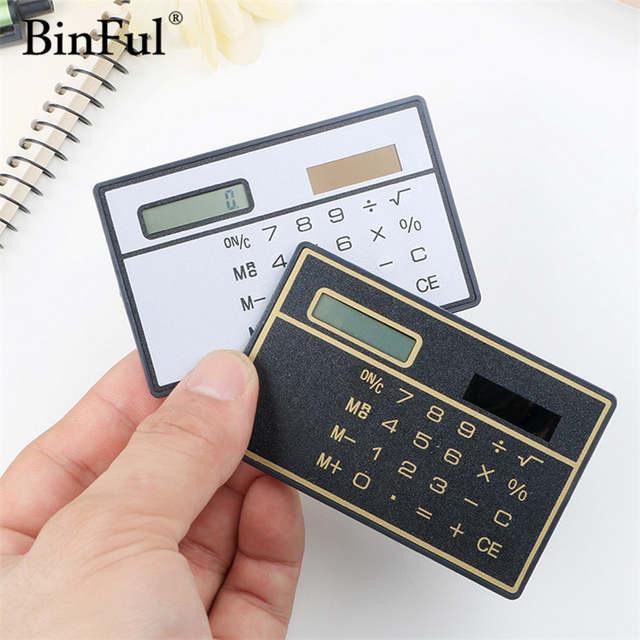 Online Shop BinFul Slim Credit Card Cheap Solar Power Pocket