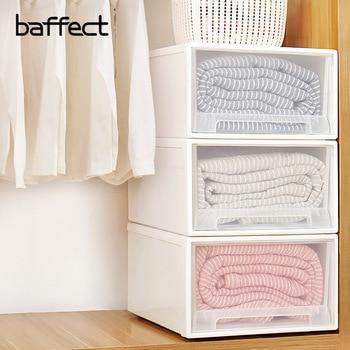 Baffect Wardrobe Organizer Clothes Storage Box Plastic Closet Organizer With Drawer Clothing Underwear Finishing Wardrobe drawer