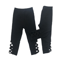 Hollow cross Baby Girl Icing Leggings Ruffle Pants For Children Holiday Boutique Clothing Trousers