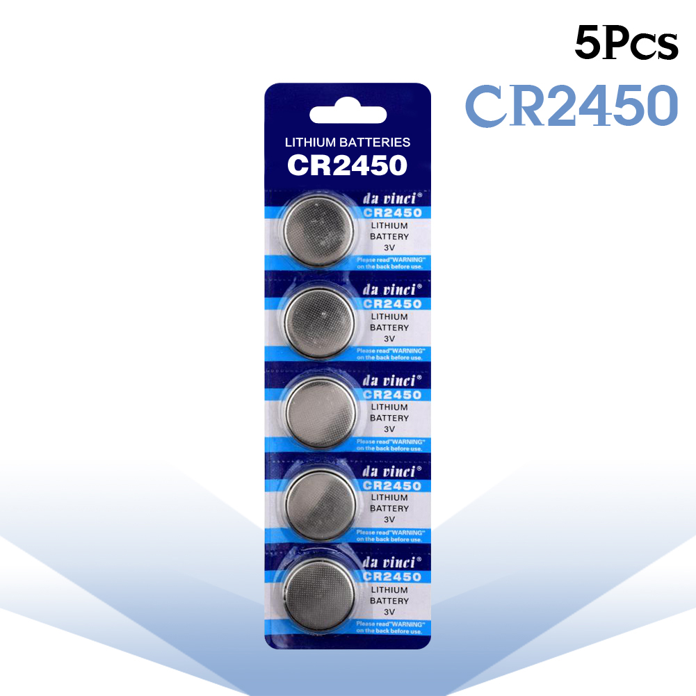 YCDC 5pcs CR2450 button cell coin battery 2450 ECR2450 KCR2450 5029LC LM2450 3V lithium Battery For Watch Electronic Devices стоимость