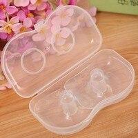 2Pcs Ultra-thin Soft Silicone Nipple Shield Protector Baby Breast Milk Feeding
