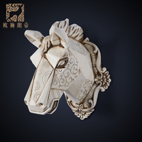 head Arts Crafts The living room wall decoration wall mural pendant European style entrance animal head hanging bar